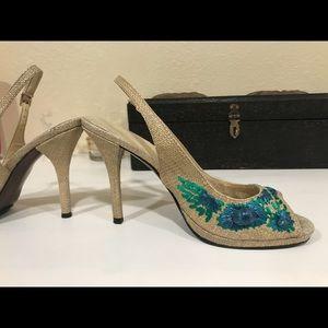 Ralph Lauren lovely jute heels summer